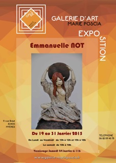Exposition Emmanuelle Not à la Galerie Marie Poscia