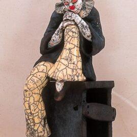 le clown en raku-Emmanuelle Not