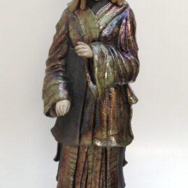 sculpture Geisha raku-Emmanuelle Not