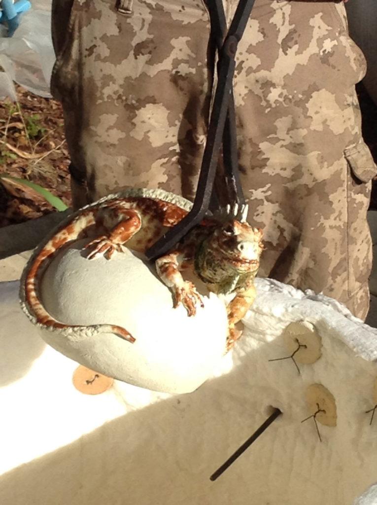 L'Iguane sortant du four