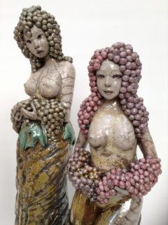 sculpture raku-la vigne abondis-Emmanuelle Not