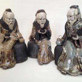 sculpture raku-sage cérémonie du thé-Emmanuelle Not