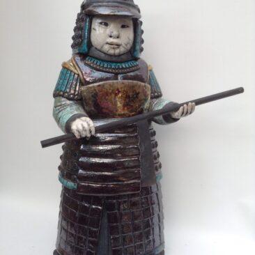 sculpture samouraï raku-Takumi-Emmanuelle Not