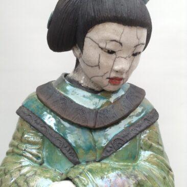 sculpture geisha raku-Haruna-Emmanuelle Not