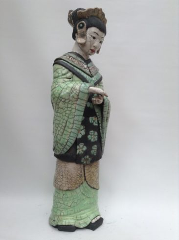sculpture Geisha raku-Emmanuelle Not