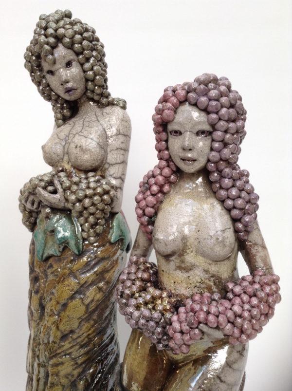 La vigne - Raku - Emmanuelle Not