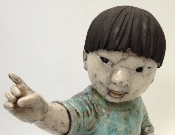 enfant d'Asie 1 - Raku - Emmanuelle Not