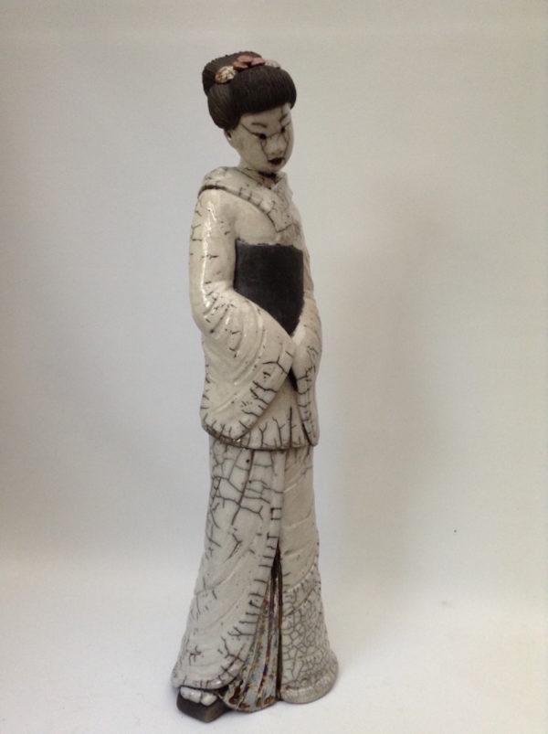 geisha longue blanche - Raku - Emmanuelle Not