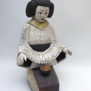 geisha moderne - cérémonie du thé - Raku - Emmanuelle Not