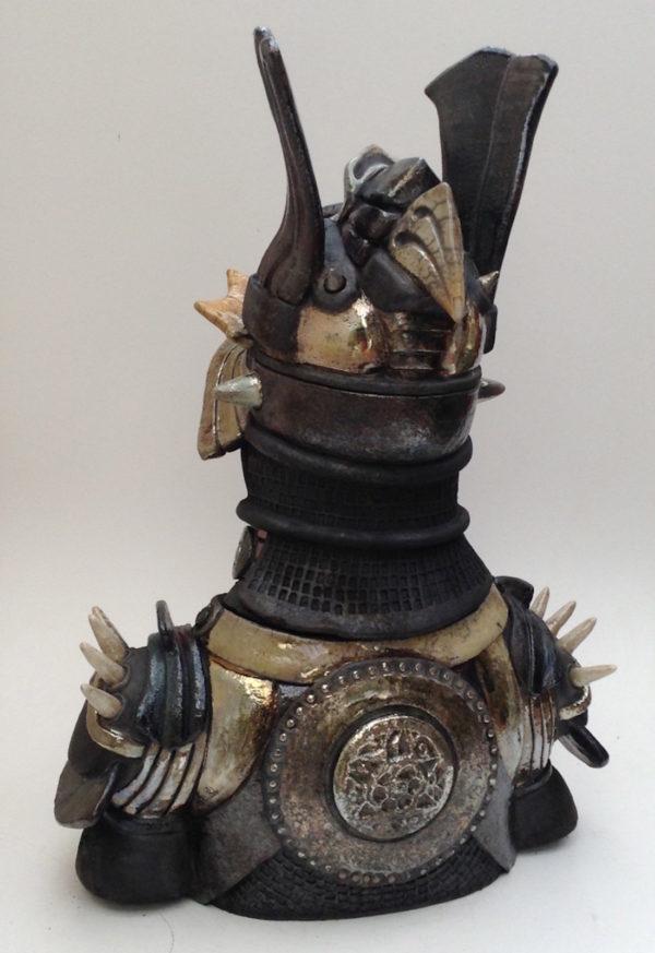 Buste de samouraï - Raku - Emmanuelle Not
