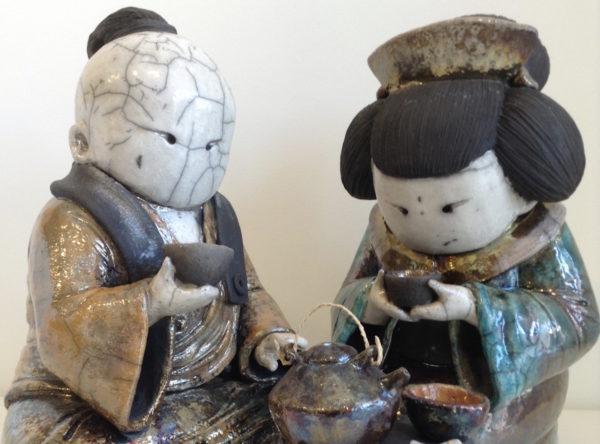 cérémonie du thé boule - Raku - Emmanuelle Not