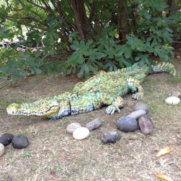 Le crocodile - Raku - Emmanuelle Not