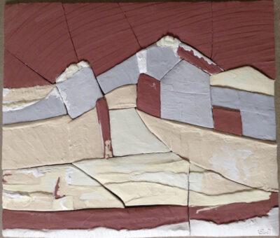 tableau d'argile - émaillage - Emmanuelle Not