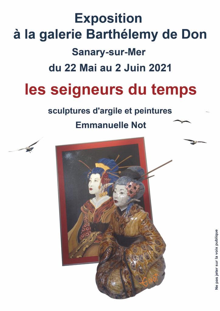 affiche galerie Sanary - Emmanuelle Not
