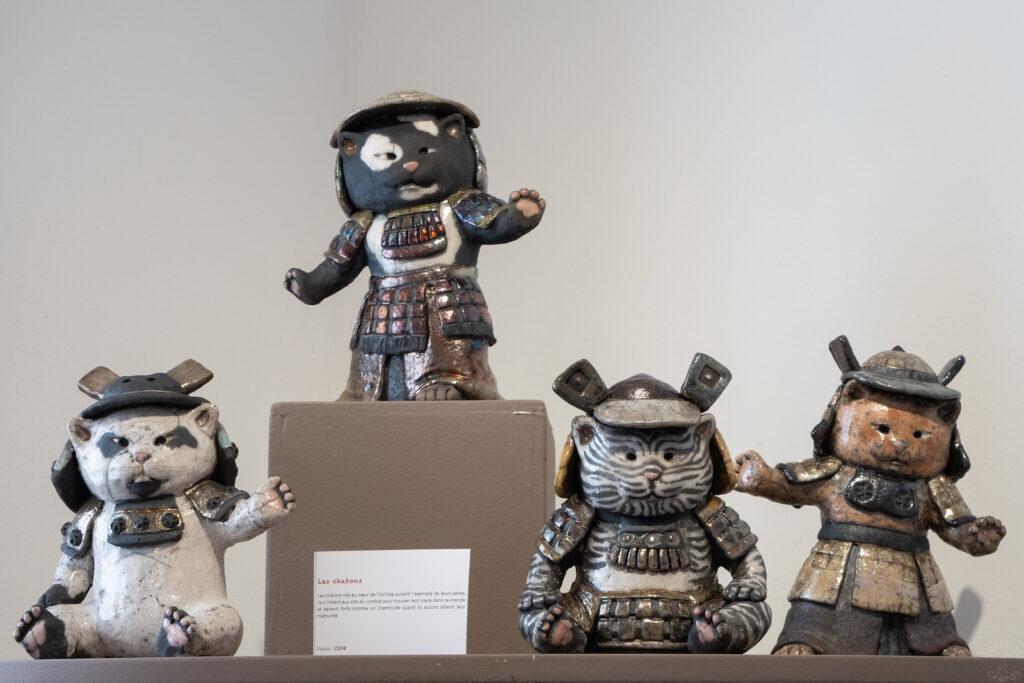 Exposition Sanary - sculptures raku - Emmanuelle Not