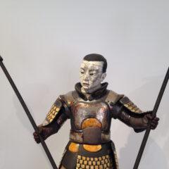Samouraï Taimatsu - sculpture raku - Emmanuelle Not