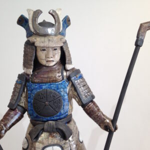 Samouraï Arashi - sculpture raku - Emmanuelle Not