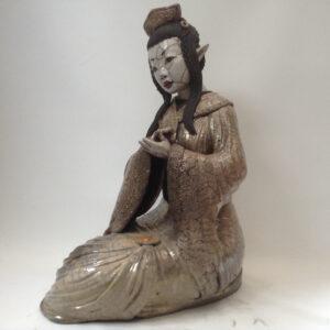 Geisha Sakuya - sculpture raku - Emmanuelle Not